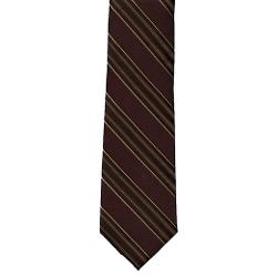 Michael Kors - Mens Brown Stripes Silk Neck Tie