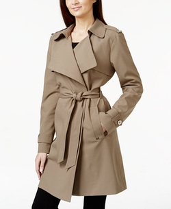 Michael Kors - Draped Asymmetrical Trench Coat