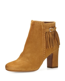 Tabitha Simmons  - Surrey Suede Fringe Booties