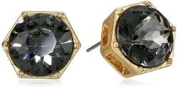 Kenneth Cole - New York Black Crystal Stud Earrings