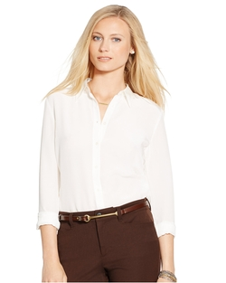 Ralph Lauren - Silk Crepe Button-Down Shirt