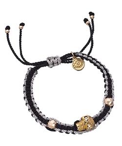Blee Inara= -  Skull Charm Bracelet