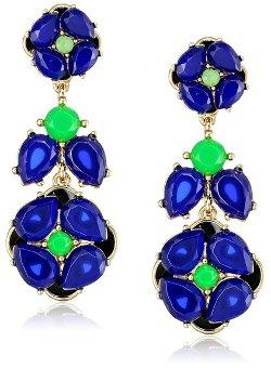 Kate Spade New York - Izu Petals Blue Multi-Statement Earrings