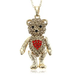 SoulBreezeCollection  - Teddy Bear Pendant Necklace