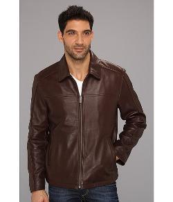 COLE HAAN  - Shirt Collar Smooth Lamb Jacket