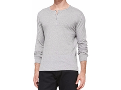 Vince - Jersey Long-Sleeve Henley Shirt