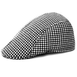 Locomo Hats - Houndstooth Check Flat Cap