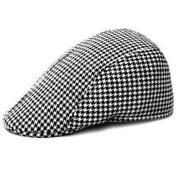 Locomo Hats - Houndstooth Check Flat Cap