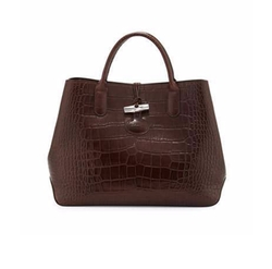 Longchamp - Roseau Croco Small Tote Bag