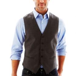 Claiborne - Gray Twill Vest