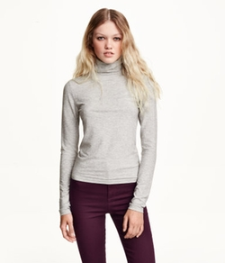 H&M - Ribbed Turtleneck Top