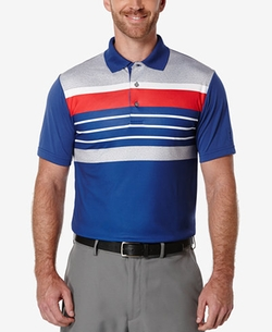 PGA Tour - Heathered Striped Golf Polo Shirt