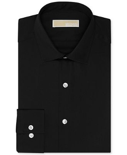 Michael Kors -  Non-Iron Slim-Fit Twill Solid Dress Shirt