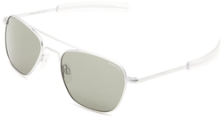 Randolph Eyewear - Aviator Matte Chrome Frame Sunglasses