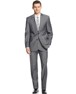 Calvin Klein - Sharkskin Slim-Fit Suit