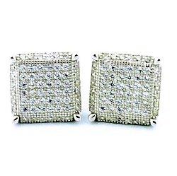 Earrings-Midwest Jewellery - Wide Cube Shaped Stud Earrings