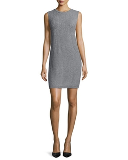 Magaschoni - Cashmere Sleeveless Cable-Knit Dress