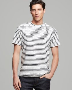 Steven Alan - Classic Striped Pocket Tee