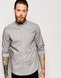 Asos - Poplin Shirt In Long Sleeve