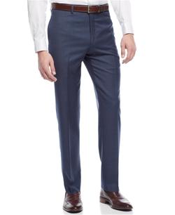 Lauren Ralph Lauren - Slim-Fit Wool Blue Sharkskin Dress Pants