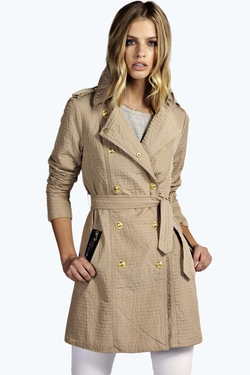 BooHoo - Liv Belted Military Mac Coat