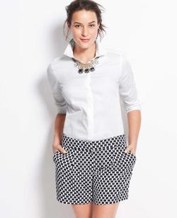 Ann Taylor - Covered Button Down Shirt