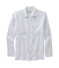 Murano  - Long-Sleeve Solid Linen Sportshirt