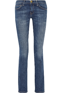 Current/Elliott - The Straight Leg Cotton-Blend Jeans