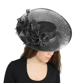Hats By Cressida  - Large Royal Arrival Sinamay Derby Hat