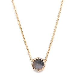 Rachael Ryen  - Labradorite Octagon Drop Necklace