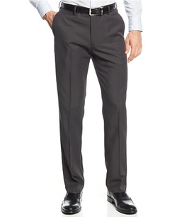 Haggar - Straight-Fit Performance Microfiber Dress Pants