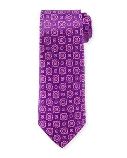 Armani Collezioni  - Medallion-Print Silk Tie