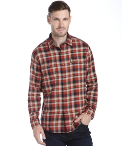Tailor Vintage - Plaid Long Sleeve Button Front Shirt