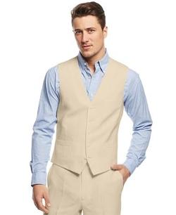 INC International Concepts  - Smith Linen-Blend Vest