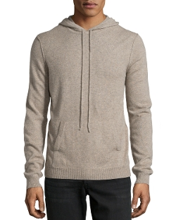 Neiman Marcus - Cashmere Pullover Hoodie