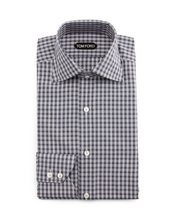 Tom Ford - Geometrical-Gingham Dress Shirt