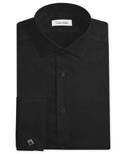 Calvin Klein  - Non-Iron Slim-Fit Texture French Cuff Shirt