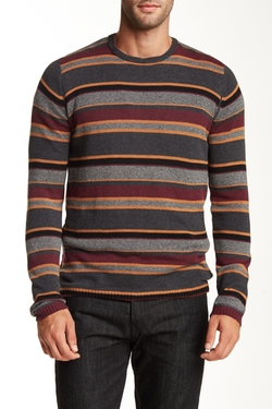 Urban Camo  - Striped Crew Neck Sweater