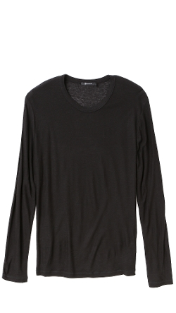 T By Alexander Wang  - Slub Long Sleeve T-Shirt