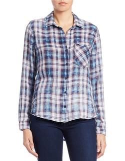 Cloth & Stone - Plaid Button-Down Shirt