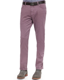 Ermenegildo Zegna  - Five-Pocket Slim Fit Pants