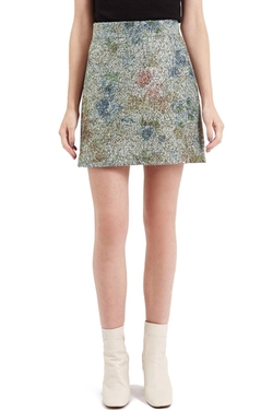 Topshop  - Metallic Floral Boucle Skirt