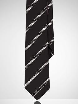 Black Label  - Striped Silk Tie