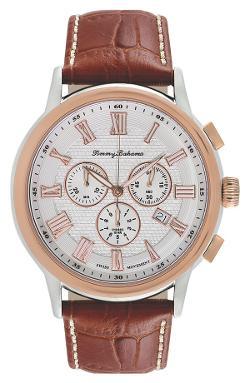 Tommy Bahama  - Willington Chronograph Leather Strap Watch