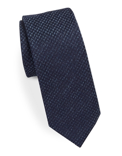 Hugo Boss - Skinny Houndstooth Silk Tie