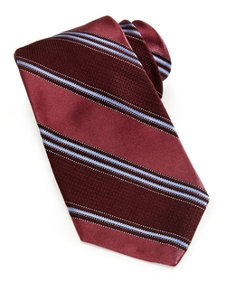 Ike Behar  - Textured Woven Striped Tie