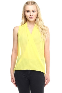 Vitamina USA  - Draped Cross Blouse