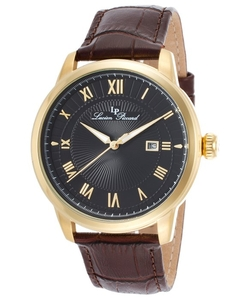 Lucien Piccard  - Solstice Brown Genuine Leather Strap Watch