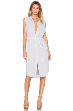 Monrow - Sleeveless Shirt Dress