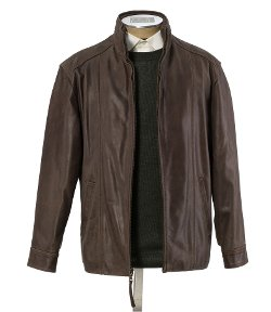 Jos. A. Bank - VIP Voyager Leather Open Bottom Jacket